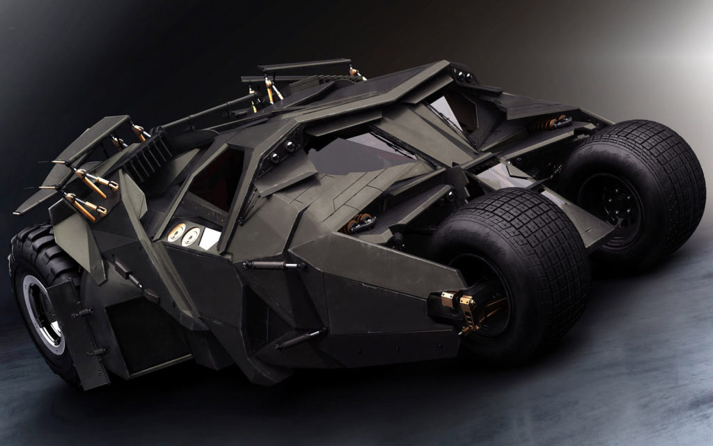 dark knight movie cars