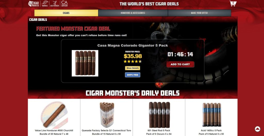 Cigar Monster 2.0 screen