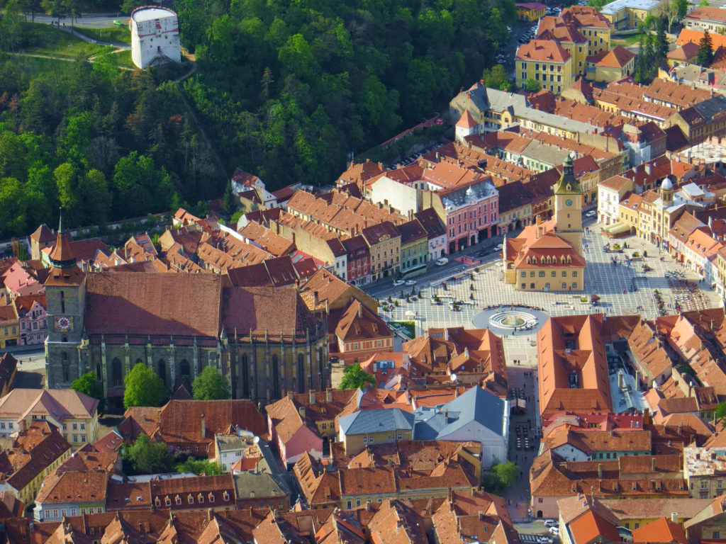 romania brasov from above