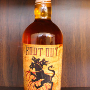Root Out root beer flavored whisky review bottle