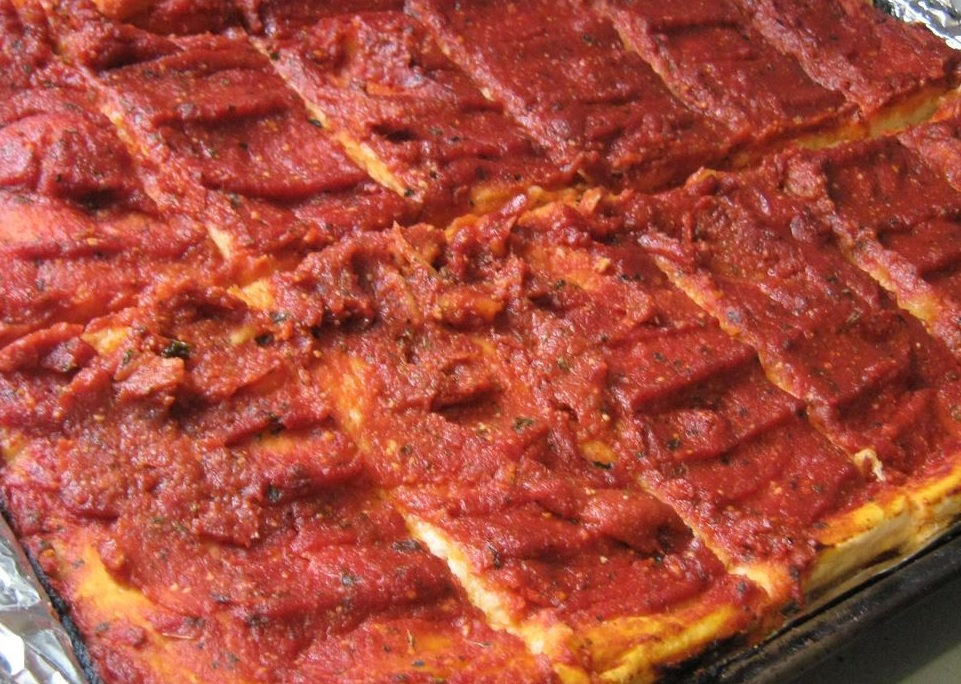 Rhode Island pizza strips oddly good food