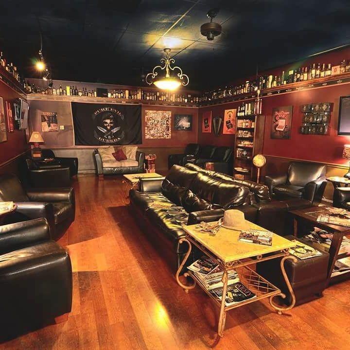 Snapshots cigar room