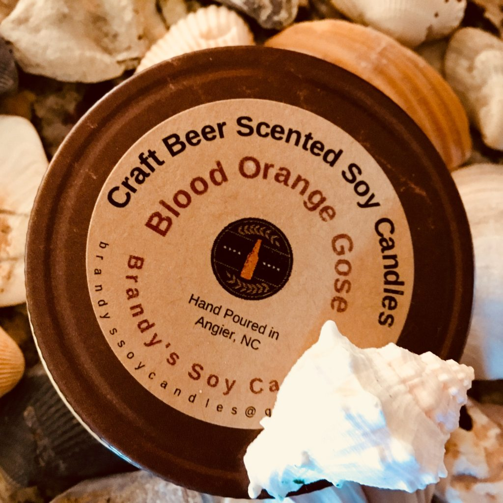 blood orange candle beer scented candles