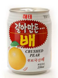 korean pear juice hangovers