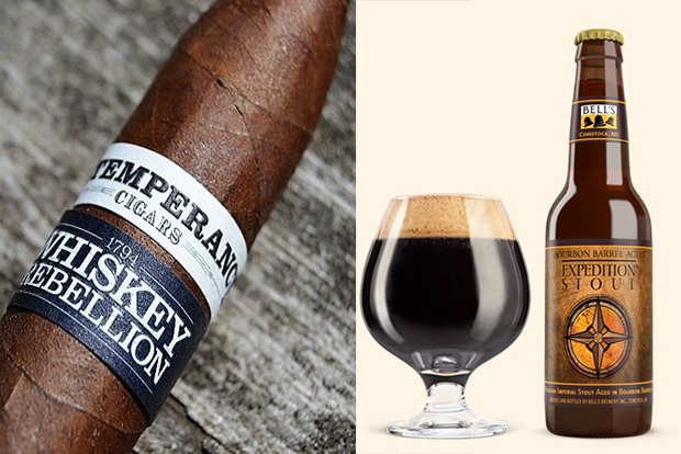 Cigar and Beer Pairings for 4th of July bells expedition stout RoMa Craft Tobac Intemperance Whiskey Rebellion 1794