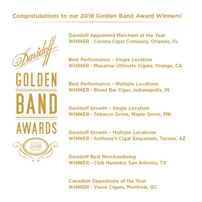 golden band awards davidoff