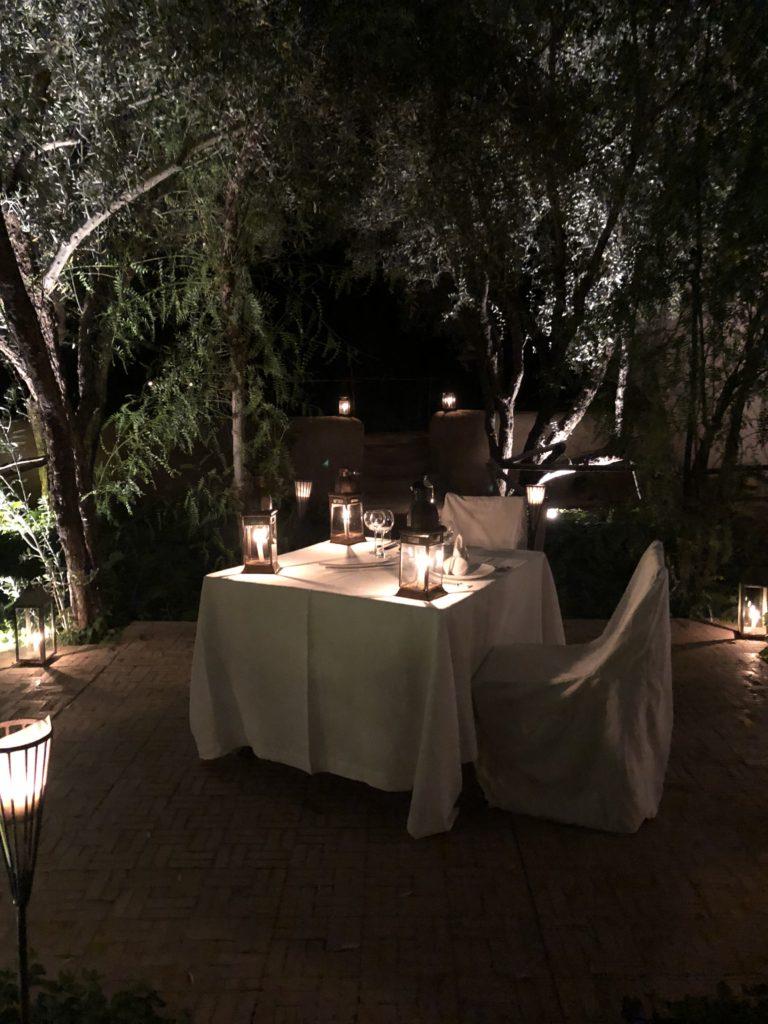 Morocco Dar Ahlam dinner
