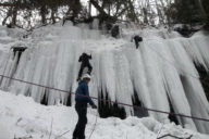 michigan ice climbing in U.P.
