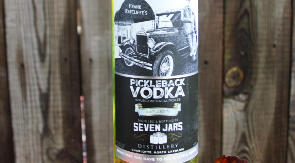 Vodka Pickleback seven jars