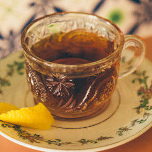 warm up with rum ron barcelo bomb tea