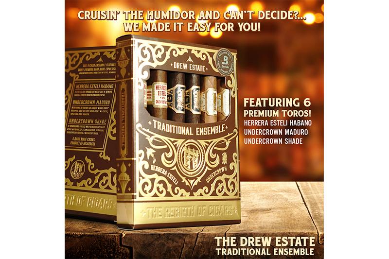 Drew Estate Releases 6-Cigar Traditional Sampler Petaca