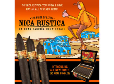 Drew Estate Shows Off New Nica Rustica Packaging and Branding